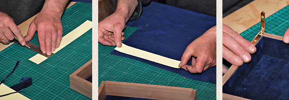 lining a box with leather