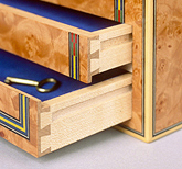 a pair of dovetailed drawers
