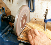 using a small disc sander