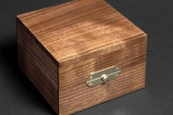 "A simple rectangular box for a single watch in walnut. 4"" x 4"" x 2 1/2"", danish oiled."