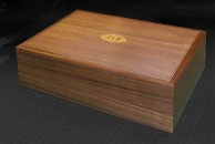 """This simple desk box is made from walnut and measures 10 1/2"""" x 8"""" x 4 1/2"""""""